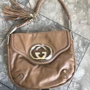 Gucci Britt Medium blonde Leather purse